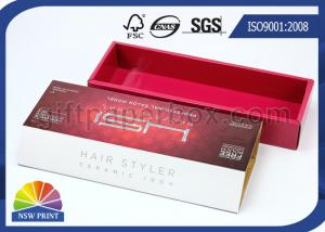 China High End Corrugated Carton Box for Hair Straighten Product , Hair Extension Packaging Box on sale