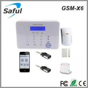 China Saful GSM-X6 GSM Touch Screen Wireless Alarm System on sale
