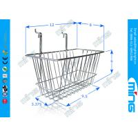 Chrome Slatwall Wire Display Baskets / Wire Mesh Basket for Storage