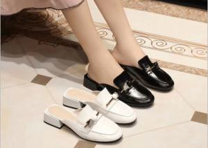 China Breathable Lining Square Toe 3cm Heeled Womens Shoes on sale