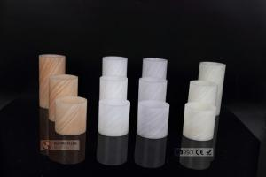 China Big Led Flickering Candles with Special Slant Line Finish , Flameless Wax Candles on sale