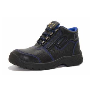 Impact - Proof PU Sole Shoes Buffalo Leather Upper Prevent Puncture Steel Midsole