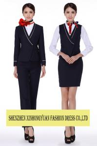 China Airline Hostess Uniforms Pilot And Flight Attendant Costume Skirt Suit on sale