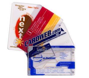 China Pvc name card digital printer transparent designbusiness cards on sale