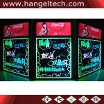 placa de escrita de néon fluorescente da placa de escrita do piscamento do diodo emissor de luz de 30x40cm
