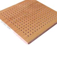 China Natural Wood Veneer Perforated Acoustic Panels Hotel Sound Proof Wall Board on sale