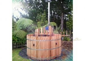 China SPA backyard cedar wood barrel hot tub Round Outdoor Jacuzzi Tub SOT - 2150 on sale