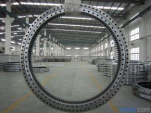 China Electricity Equipment Single Row Slew Ring Bearings Four Point Contact Ball External Gear on sale