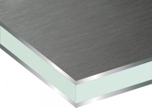 China Super long lifespan fireproof  Titanium Zinc  Composite Panel  with VMZINC on sale