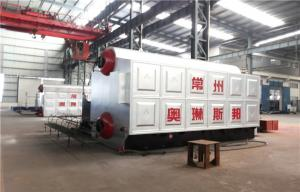 China Dual Rear Drum Vertical Spiral Coal Fired Steam Boiler Heating System on sale