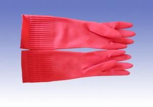 China Bens vermelhos luvas impermeáveis mornas prolongadas para a limpeza do inverno on sale