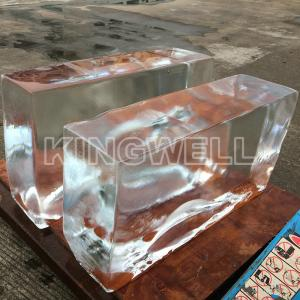 China Eco Clear Block Ice Block Making Machine 1 Ton Per Day For Ice Sculpture on sale