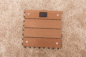 China Wpc decks with solar light on sale