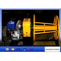 China 3 Ton Wire Rope Take Up Winch , Cable Reel Winch With YAMAHA Gas Engine on sale