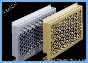 China Oval Hole Perforated Metal Mesh , Punch Plate Screens Anodizing Aluminum Alloy 1100 on sale