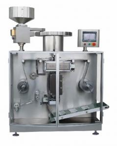China High Speed Automatic Strip Packing Machine , Capsule / Tablet Packaging Machine PLC Controlled on sale