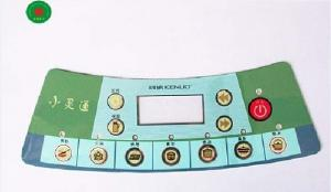China Flexible PVC / PC / PET Gloss Tactile Membrane Switch Keypad For Instruments on sale