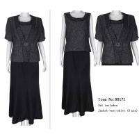 Plus size long skirt black skirt suit