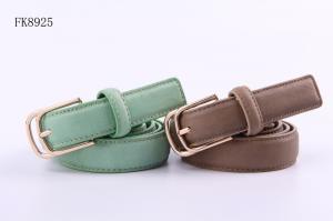 China Green Brown Womens Dress Belts Ladies Fashion Belts 2.4cm Width fashion pu belt for women on sale