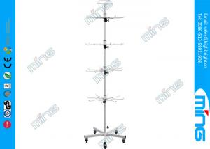 China Heavy Duty Chrome Wire Display Shelves / 4 Tiers Floor Spinner Display Rack on sale