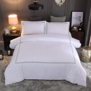 China Hotel embroidery Bedding Set Queen/King Size White Duvet Cover Sets Hotel Bed Linen Set Bedding Pillowcase on sale