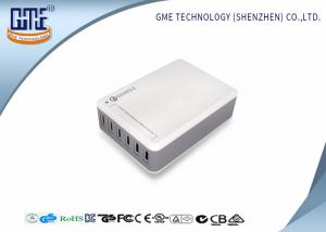 China 6 Port Desktop Switching Power Supply USB Quick AC Adapter Charger 50w UL CE FCC on sale