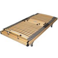 Wood slatted electric adjustable bed