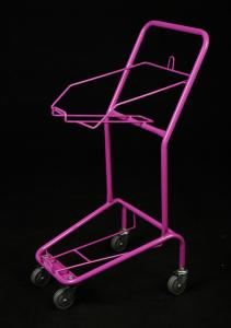 China Personal Shopping Trolley Folding Luggage Cart 4 Swivel Flat Bearing 5 Castors on sale