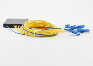 China 1 / 2 Ratio Plc Splitter Module Exceptional Reliability With SC UPC Connector on sale
