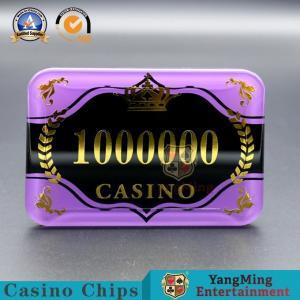 China Acrylic Bronzing Casino Poker Chips UV Mark Security Code High - Transparent on sale