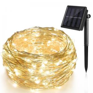 China Solar Decorative LED String Lights Waterproof Solar Powered Christmas Lights on sale