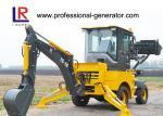 1000kg Load Heavy Construction Machinery / Mini Backhoe Wheel Loader With 0.15 bucket 37kw