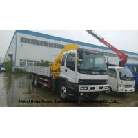 China ISUZU 5 Ton -14 Ton Truck Mounted Crane With Telescopic Boom And Knukled Boom on sale