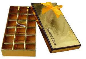 China Classic Paper Chocolate Packaging Box on sale