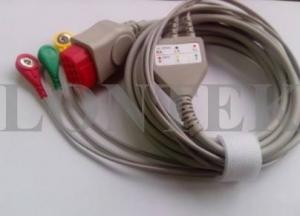 China Bionet ECG Patient Cable IEC 3LD Snap TPU For BM5 , Medical Accessories on sale
