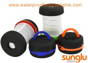 China Collapsible pop LED Camping Lamp , Portable tent bulb  3AA battery Lantern Hiking on sale