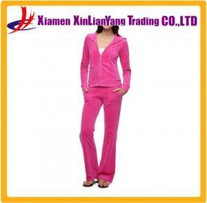 China Custom womens full printed zip closure sweat suits on sale