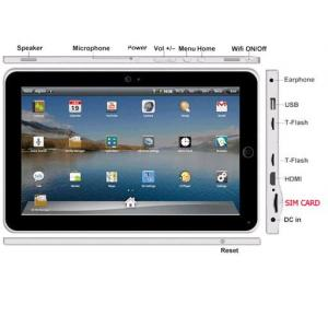 China 10 inch tablet pc with Android 2.2 OS ,3G,WIFI ,GPS ,GSM  on sale