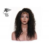 China Natural Black Lace Front Wigs Brazilian Hair , Kinky Curly Wigs For Black Ladies on sale