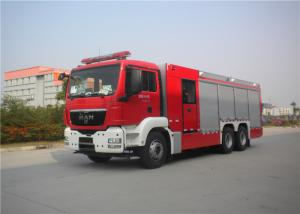 China 18 Ton Capacity Fire Equipment Truck 265KW With Steel Frame Pedal Plate on sale