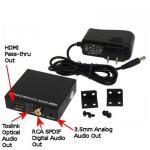3.5mmの可聴周波抽出器、同軸、Toslinkの音声およびHDMIパスによるHDMI