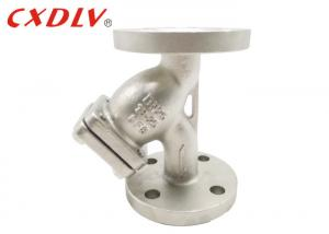 China Filter Impurities Flanged Y Strainer Valve For Oil Water Gas Energy Saving on sale