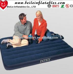 China Inflatable lover travel air bed with inflatable Electric Pump mattress on sale