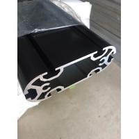 China Customized Extruded Aluminum Profiles Electroplating Black Long Extrusion Profile on sale