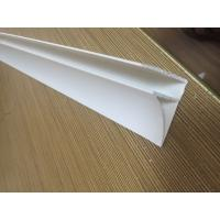 China 4CM Glossy Extruded Plastic Profiles Top Clip For Room Roof Garden Drainage Board on sale