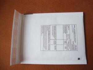 China 1# kraft paper bubble envelope bag 120*175 printing CN22 international packet on sale