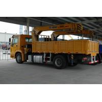 China Mini 4x2 5 Ton Truck Mounted Hydraulic Crane , Telescopic Mobile Crane ZZ116M4611W Chassis on sale