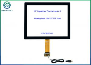 China 15 Inch USB Touch Screen Panel With Cover Glass to Sensor Glass Structure on sale