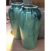 Pottery Jar Outdoor Ceramic Jars Ceramic Terracotta Pots Planters GW1244 Set 2