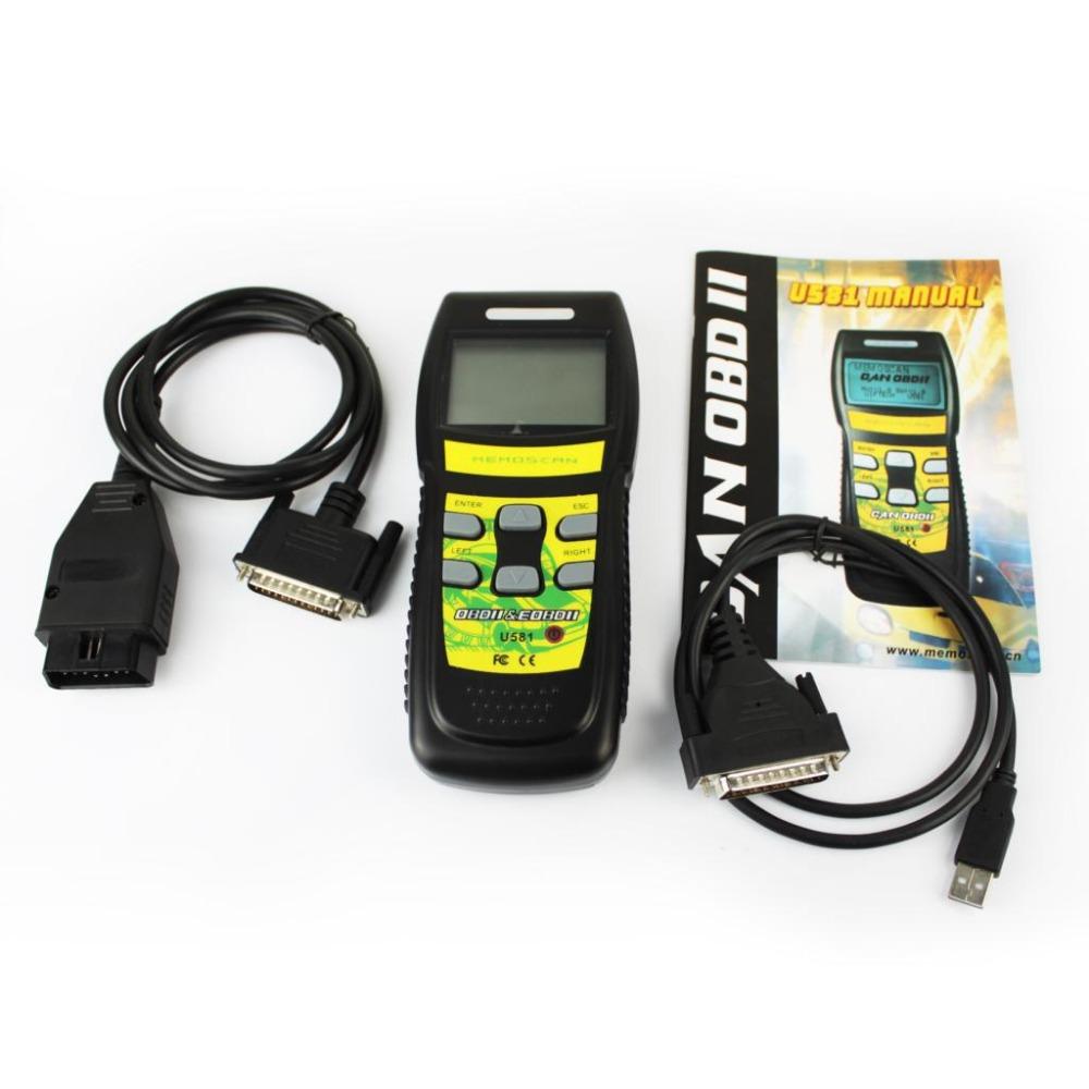 Memoscan U581 OBD2 Auto Scanner , OBDII Code Reader Live